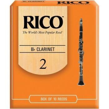 Rico Bb Clarinet Reeds, Strength 2.0, 10-pack (RI-RCA1020)