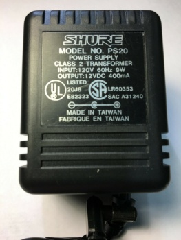 Shure PS20 Power Supply AC Adapter (SH-PS20)