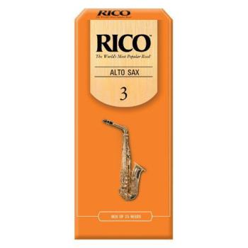 Rico Alto Saxophone Reeds, Strength 3.0, 25-pack (RI-RJA2530)