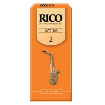 Rico Alto Saxophone Reeds, Strength 2.0, 25-pack (RI-RJA2520)