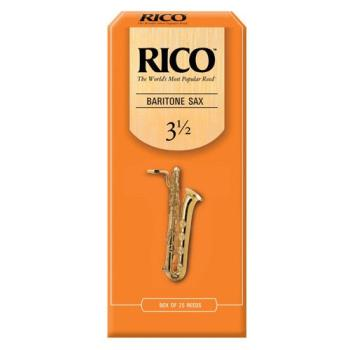Rico Alto Saxophone Reeds, Strength 3.5, 25-pack (RI-RJA2535)