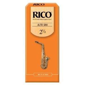 Rico Alto Saxophone Reeds, Strength 2.5, 25-pack (RI-RJA2525)