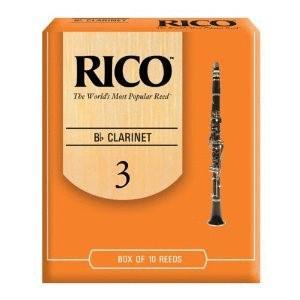 Rico Bb Clarinet Reeds, Strength 2.5, 10-pack (RI-RCA1025)