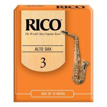 Rico Alto Saxophone Reeds, Strength 3.0, 10-pack (RI-RJA1030)