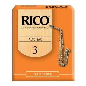 Rico Alto Saxophone Reeds, Strength 2.5, 10-pack (RI-RJA1025)