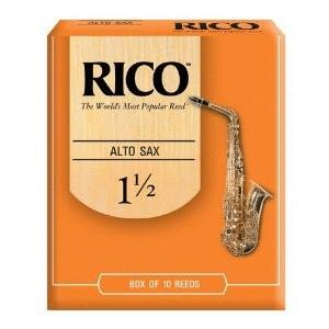 Rico Alto Saxophone Reeds, Strength 1.5, 10-pack (RI-RJA1015)