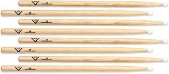 Vater Hickory Drumstick Prepack 4-pair - 5B - Nylon Tip (2-pack) Value (VA-VH5BN4-4P)
